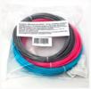 Комплект ABS-пластика ESUN 1.75 мм. для 3D ручек (голубой, розовый, серебряный)