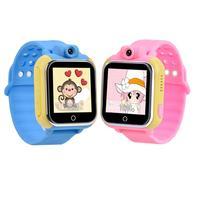 Купить со скидкой Детские часы Smart Baby Watch Q75 с GPS-трекером и камерой GW1000 Синие