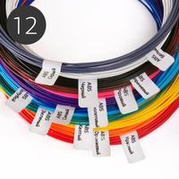 Набор ABS пластика 1.75мм для 3D Ручки (12 цветов)