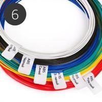 Набор ABS пластика 1.75мм для 3D Ручки (6 цветов)