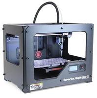 3D Принтер MakerBot Replicator 23D Принтеры<br>Самый популярный домашний 3D ПринтерКол-во головок: 1Область печати: 28,5 x 15,3 x 15,5 см (6.7 литров)Расходники: PLA, 1.75 ммТолщина слоя: 100 микронСкорость выращивания: 24 см&amp;sup3;/часСкорость печати: 50мм/секТочность: 2,5 микрометров по Z-оси, 11 микрометров по X-оси, 11 микрометров по Y осиМатеринская плата: MakerBotMightyBoardХарактеристики двигателя: шаговое исполнение, 1/16, 5 осейМонитор: ЖК, 4 20Управление: многоповоротная панельЗвуковой сигнал: пьезоэлектрикаЦветопередача: управляемая систем, RGBПрограммное обеспечение: MakerWare&amp;trade; Bundle 1.0Поддерживаемая ОС: Mac OSX, Windows, LinuxПодсоединение: USB, SDВозможные форматы файлов: .obj, .thing, .stlМатериал корпуса: сталь с акриловым напылениемВес, кг: 11.5Габариты, см: 49 x 42 x 38Гарантия: 1 год<br><br>Толщина слоя: 100 микрон<br>Толщина нити: 1,75 мм<br>Расходники: PLA<br>Платформа: без подогрева<br>Страна производитель: США<br>Диаметр сопла (мм): 0.4 мм