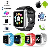 Умные часы Smart Watch A1 Зеленый (салатовый)Смарт-часы<br>ХАРАКТЕРИСТИКИ&amp;nbsp;Smart Watch A1Корпус: металл и пластикЦвета: серебряныйСиликоновый ремешок (регулируемый)Цвет ремешка: белый, черный, зеленый, красный, синийЗащита от ударов и влагиЭкран: 1.54 дюймов, 240х240 точекBluetooth 3.0Процессор: MTK6260AОЗУ: 128 МбПЗУ: 64 МбСлот под карту памяти и&amp;nbsp;SIM-картуКамера: 0.3 МпАккумулятор: 380 мАчДополнительно: мониторинг сна и калорий<br>