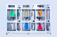 6 - 3D принтеров на одном каркасе WINBO VERTICAL 6 UNITS3D Принтеры<br>Диаметр нити: 3.00 ммТехнология печати: FDMFFFТип пластика: PLA (ПЛА)Размер области построения: 305&amp;times;205&amp;times;305 мм &amp;times; 6Материал корпуса: 6мм алюмиево-пластиковые композитные панелиКоличество экструдеров (печатающих головок): 1 х 6Точность позиционирования по оси XY: 0.010 мм<br>