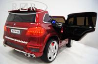 Электромобиль Mercedes-Benz GL63(LS628) красный-глянецДетские электромобили<br>ЭЛЕКТРОМОБИЛЬ MERCEDES-BENZ GL63(LS628)&amp;nbsp;С ДИСТАНЦИОННЫМ УПРАВЛЕНИЕМ КРАСНЫЙ ГЛЯНЕЦ ЦВЕТСветовые и звуковые эффекты.Пульт управления: индивидуальный (настраивается по Bluetooh)Колеса: каучуковые низкопрофильныеСкорость: 2 скорости вперед, одна назад.Двери: открываютсяСидение: кожаноеUSB, SD-входРазмер собранной модели: 126*66*52 см, вес: 21кг, макс. нагрузка: 30кгАккумулятор: 12V/7AhРедуктор: 12v*2<br><br>Марка: MERCEDES-BENZ<br>Модель: GL63(LS628)<br>Сиденье: Кожаное<br>Колёса: Каучуковые низкопрофильные<br>Кол-во мест: 2<br>Цвет: Красный глянец