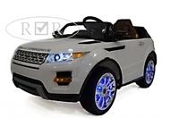 Электромобиль Range Rover A111AA VIP белыйДетские электромобили<br>ЭЛЕКТРОМОБИЛЬ RANGE ROVER A111AA VIP С ДИСТАНЦИОННЫМ УПРАВЛЕНИЕМ БЕЛЫЙ ЦВЕТСветовые и звуковые эффекты.&amp;nbsp;Подсветка панели приборов, диодные огни фар.&amp;nbsp;Плавный ход. Амортизаторы.Пульт управления: индивидуальный (настраивается по Bluetooh)Колеса: РЕЗИНОВЫЕ НИЗКОПРОФИЛЬНЫЕ (дополнительная подсветка, которую, по желанию, можно отключить - рычаг под рулем)Открываются двери.&amp;nbsp;Заводится с кнопки.&amp;nbsp;Коробка автомат.&amp;nbsp;Обратный ход руля.Скорость: 2 скорости вперед, одна назад.Сидение: мягкое кожаное, регулировка вперед/назад. 5-и точечный ремень безопасности.USB-вход, вход для MP3, SD-входВозможность перемещения по принципу Чемодана (выдвигается ручка и колесики)Размер собранной модели: 125*68*56см, вес: 22кг, макс. нагрузка: 30 кгАккумулятор: 2*6V/7АРедуктор: 2*35W<br><br>Марка: Range Rover<br>Модель: A111AA VIP<br>Сиденье: Кожаное<br>Колёса: Резиновые низкопрофильные<br>Кол-во мест: 1<br>Цвет: Белый