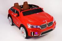 Электромобиль BMW M333MM красныйДетские электромобили<br>Электромобиль BMW M333MM с дистанционным управлениемСветовые и звуковые эффекты.Подсветка панели приборов, диодные огни фар.Плавный ход.Амортизаторы.Пульт управления: индивидуальный (настраивается по Bluetooh)Колеса: EVA-резиновые низкопрофильныеОткрываются двери.Скорость: 2 скорости вперед, одна назад.Сидение: кожаное ДВУХМЕСТНОЕ. Заводится с кнопки. Возможность перемещения по принципу ЧемоданаUSB-вход, вход для MP3, SD-вход, FM-радиоРазмер собранной модели: 146*94*61см,вес: 29кг,макс. нагрузка: 40 кгАккумулятор: 12V/7А*2,Редуктор: 30W*2.Гарантия: 1 год.<br><br>Марка: BMW<br>Модель: X7<br>Сиденье: Кожаное<br>Колёса: Резиновые<br>Кол-во мест: 2<br>Цвет: Красный