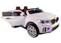 Электромобиль BMW M333MM белыйДетские электромобили<br>ЭЛЕКТРОМОБИЛЬ BMW M333MM&amp;nbsp;С ДИСТАНЦИОННЫМ УПРАВЛЕНИЕМ БЕЛЫЙ ЦВЕТСветовые и звуковые эффекты.&amp;nbsp;Подсветка панели приборов, диодные огни фар.&amp;nbsp;Плавный ход. Амортизаторы.Пульт управления: индивидуальный (настраивается по Bluetooh)Колеса: EVA-резиновые низкопрофильныеОткрываются двери.Скорость: 2 скорости вперед, одна назад.Сидение: кожаное ДВУХМЕСТНОЕ.&amp;nbsp;Заводится с кнопки.&amp;nbsp;Возможность перемещения по принципу ЧемоданаUSB-вход, вход для MP3, SD-вход, FM-радиоРазмер собранной модели: 146*94*61см, вес: 29кг, макс. нагрузка: 40 кгАккумулятор: 12V/7А*2,&amp;nbsp;Редуктор: 12V*2.<br><br>Марка: BMW<br>Модель: M333MM<br>Сиденье: Кожаное<br>Колёса: EVA-резиновые низкопрофильные<br>Кол-во мест: 2<br>Цвет: Белый