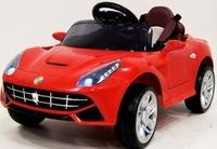 Электромобиль Ferrari O222OO красныйДетские электромобили<br>ЭЛЕКТРОМОБИЛЬ FERRARI O222OO (КОЖА) С ДИСТАНЦИОННЫМ УПРАВЛЕНИЕМ&amp;nbsp;КРАСНЫЙ ЦВЕТСветовые и звуковые эффекты.&amp;nbsp;Подсветка панели приборов, диодные огни фар.&amp;nbsp;Амортизаторы задние.Пульт управления: индивидуальный (настраивается по Bluetooh)Колеса: каучуковыеОткрываются двери. Открывается багажник.&amp;nbsp;Передвижение по принципу Чемодан.Электромобиль заводится с ключа.&amp;nbsp;Подсветка и звуковое сопровождение включается дополнительной кнопкой (справа от руля).Скорость: Скорость вперед/назад.Сидение: кожаное, пятиточечный ремень безопасностиВход MicroSD, USB-вход.Размер собранной модели: 92*50*42см, вес: 8кг, макс. нагрузка: 30 кгАккумулятор: 6V/4,5A*2Редуктор: 2*20W<br><br>Марка: FERRARI<br>Модель: O222OO<br>Сиденье: Кожаное<br>Колёса: Каучуковые<br>Кол-во мест: 1<br>Цвет: Красный