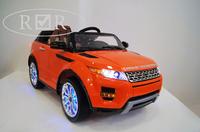 Электромобиль Range Rover A111AA VIP оранжевыйДетские модели<br>ЭЛЕКТРОМОБИЛЬ RANGE ROVER A111AA VIP С ДИСТАНЦИОННЫМ УПРАВЛЕНИЕМ ОРАНЖЕВЫЙ ЦВЕТСветовые и звуковые эффекты.&amp;nbsp;Подсветка панели приборов, диодные огни фар.&amp;nbsp;Плавный ход. Амортизаторы.Пульт управления: индивидуальный (настраивается по Bluetooh)Колеса: РЕЗИНОВЫЕ НИЗКОПРОФИЛЬНЫЕ (дополнительная подсветка, которую, по желанию, можно отключить - рычаг под рулем)Открываются двери.&amp;nbsp;Заводится с кнопки.&amp;nbsp;Коробка автомат.&amp;nbsp;Обратный ход руля.Скорость: 2 скорости вперед, одна назад.Сидение: мягкое кожаное, регулировка вперед/назад. 5-и точечный ремень безопасности.USB-вход, вход для MP3, SD-входВозможность перемещения по принципу Чемодана (выдвигается ручка и колесики)Размер собранной модели: 125*68*56см, вес: 22кг, макс. нагрузка: 30 кгАккумулятор: 2*6V/7АРедуктор: 2*35W<br><br>Марка: Range Rover<br>Модель: A111AA VIP<br>Сиденье: Кожаное<br>Колёса: Резиновые низкопрофильные<br>Кол-во мест: 1<br>Цвет: Оранжевый