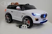 Электромобиль Maserati E007KX белыйДетские электромобили<br>ЭЛЕКТРОМОБИЛЬ MASERATI E007KX С ДИСТАНЦИОННЫМ УПРАВЛЕНИЕМ БЕЛЫЙ ЦВЕТСветовые и звуковые эффекты.&amp;nbsp;Подсветка панели приборов, диодные огни фар.&amp;nbsp;Амортизаторы.Задняя подсветка.Пульт управления: индивидуальный (настраивается по Bluetooh)Колеса: EVA-резиновые низкопрофильные (кнопочные)Открываются двери. Возможность перемещения по принципу Чемодана (выдвигается ручка и колесики)Открывается капот, стойка-фиксатор капота для легкого демонтажа аккумулятора.Скорость: 3 скорости вперед, одна назад.Сидение: кожаное. 5-ти точечный ремень безопасности.&amp;nbsp;Заводится с кнопки.Вход MicroSD, USB-вход. Индикатор заряда батареи.Размер собранной модели: 123*60*60см, вес: 19кг, макс. нагрузка: 30 кгАккумулятор: 12V/7АРедуктор: 2*12V<br><br>Марка: Maserati<br>Модель: E007KX<br>Сиденье: Кожаное<br>Колёса: EVA-резиновые низкопрофильные (кнопочные)<br>Кол-во мест: 2<br>Цвет: Белый