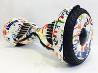 Гироскутер Smart Balance PRO PREMIUM 10.5 V2 с APP самобаланс (граффити белый)Гироскутеры<br>два колеса;платформа для ног с двумя педалями;два электродвигателя (по одному на каждое колесо);аккумуляторная батарея;гироскоп и комплект датчиков;управляющая электроника.<br><br>Размер колес: 10 дюймов<br>Вес водителя: 25 - 130 кг<br>Вес: 13,5<br>Время работы от аккумулятора:: 2 часа<br>Время зарядки аккум: 2-3 часа<br>Мощность двигателя:: 2 колеса по 500Вт<br>Максимальное расстояние (км):: 20 км<br>Максимальная скорость (км/ч):: 20
