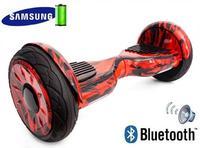 Гироскутер Smart Balance 10 NEW с колонками Черная молнияЭлектротранспорт<br>Диаметр колеса: 10 дюймовДальность пробега на одной зарядке: 25 кмМинимальная нагрузка: 25 кгМаксимальная нагрузка: 120 кгМощность: 500 ВтВремя зарядки: 1-2 часаМаксимальный угол подъема: 30 градусовBluetooth: естьДинамик: есть<br><br>Дальность пробега на одной зарядке: 25 км<br>Размер колес: 10 дюймов<br>Вес водителя: 25-120 кг<br>Вес: 15 кг<br>Максимальный угол подъема: 30 градусов<br>Мощность: 500 Вт<br>Емкость батареи: 36 V. 5.2 Ah<br>Bluetooth: есть<br>Время полной зарядки: 1-2 часа<br>Температурный режим использования: -20°C + 50°C