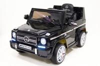 Электромобиль Mercedes-Benz-G-65-LS528 черныйДетские электромобили<br>ЭЛЕКТРОМОБИЛЬ MERCEDES-BENZ G-65-LS528 (ЛИЦЕНЗИОННАЯ МОДЕЛЬ) С ДИСТАНЦИОННЫМ УПРАВЛЕНИЕМ ЧЕРНЫЙ ЦВЕТСветовые и звуковые эффекты. Подсветка панели приборов.&amp;nbsp;Плавный ход. Амортизаторы.Пульт управления: индивидуальный (настраивается по Bluetooh)Колеса: низкопрофильные резиновыеСкорость: 2 скорости вперед, одна назад.Сидение: кожаное с лицензионной эмблемой, пятиточечный ремень безопасностиПокрытие: черныйИндикатор заряда батареи, заводится с кнопкиUSB-вход, вход для MP3, SD-картаРазмер собранной модели: 95*65*56 см, вес: 16кг, макс. нагрузка: 30 кгАккумулятор: 12V/7АРедуктор: 2*12V<br><br>Марка: MERCEDES-BENZ<br>Модель: G-65-LS528<br>Сиденья: Кожаное<br>Колёса: Низкопрофильные резиновые<br>Кол-во мест: 1<br>Цвет: Черный