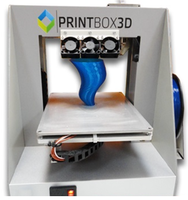 3D Принтер PrintBox3D ONE3D Принтеры<br>3D Принтер PrintBox3D ONE:&amp;bull; Кол-во головок: 1 (возможность апгрейда до 2х)&amp;bull; Область&amp;nbsp;печати:&amp;nbsp;18 х 18 х 16 см (5.2 литра)&amp;bull; Расходники:&amp;nbsp;ABS, PLA, PVA - 1.75 мм&amp;bull; Толщина слоя: 50 микрон&amp;bull; Скорость перемещения ПГ: 150 мм/сек&amp;bull; Скорость:&amp;nbsp;30 см&amp;sup3;/час&amp;bull; Подогреваемая платформа: да&amp;bull; Поддерживаемая ОС: Win/Mac/Lumix&amp;bull; Программное обеспечение: Repetier Host, Cura (на русс.)&amp;bull; Формат файлов: .STL&amp;nbsp;.OBJ .thing&amp;bull; Энергопотребление:&amp;nbsp;220 В, 50-60 Гц, 500 Вт&amp;bull;&amp;nbsp;Вес, кг: 10&amp;bull;&amp;nbsp;Габариты, см:&amp;nbsp;32 x 36 x 41&amp;bull;&amp;nbsp;Гарантия: 1 год+ 6 кг пластика в подарок.<br><br>Платформа: с подогревом<br>Операционная система: Win/Mac/Lumix<br>Вес: 10 кг<br>Размеры (ДхШхГ): 32x36x41 см<br>Кол-во головок: 1<br>Толщина слоя: 50 микрон<br>Страна производитель: Россия<br>Расходники: ABS, PLA, PVA<br>Категория 3D принтера: Настольный 3D Принтер<br>Толщина нити: 1,75 мм<br>Диаметр сопла (мм): 0,2-0,5 мм<br>Программное обеспечение: Repetier Host, Cura<br>Электропитание: 220 В, 50-60 Гц<br>Скорость печати: 30 см?/час<br>Область печати: 18х18х16 см<br>Формат файлов: .OBJ, .THING, .STL