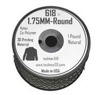 Катушка Taulman 3D Nylon 618 0,45 кг.1,75 ммПластик для 3D Принтера<br>Расходные материалы:&amp;nbsp; Nylon (Нейлон )Вес, кг:&amp;nbsp; 0.45Толщина нити, мм:&amp;nbsp;1.75Цвет:&amp;nbsp; Прозрачный<br><br>Вес: 0.5 кг<br>Цвет: прозрачный<br>Тип пластика: Nylon (Нейлон )<br>Диаметр нити: 1,75 мм<br>Температура плавления: 235-260<br>Производитель: Taulman 3D<br>Рекомендуемая скорость печати: 28<br>Вид намотки: Катушка<br>Внешний диаметр катушки: 130 мм<br>Посадочный диаметр катушки: 20 мм<br>Высота катушки: 70 мм<br>Вид упаковки: Герметичный пакет с селикагелем<br>Совместимость: Любые FDM 3D принтеры с подогреваемой платформой<br>Страна производства: США<br>Рекомендуемая температура подогрева площадки: 80-100