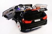 Электромобиль BMW M333MM черныйДетские электромобили<br>ЭЛЕКТРОМОБИЛЬ BMW M333MM&amp;nbsp;С ДИСТАНЦИОННЫМ УПРАВЛЕНИЕМ ЧЕРНЫЙ ЦВЕТСветовые и звуковые эффекты.&amp;nbsp;Подсветка панели приборов, диодные огни фар.&amp;nbsp;Плавный ход. Амортизаторы.Пульт управления: индивидуальный (настраивается по Bluetooh)Колеса: EVA-резиновые низкопрофильныеОткрываются двери.Скорость: 2 скорости вперед, одна назад.Сидение: кожаное ДВУХМЕСТНОЕ.&amp;nbsp;Заводится с кнопки.&amp;nbsp;Возможность перемещения по принципу ЧемоданаUSB-вход, вход для MP3, SD-вход, FM-радиоРазмер собранной модели: 146*94*61см, вес: 29кг, макс. нагрузка: 40 кгАккумулятор: 12V/7А*2,&amp;nbsp;Редуктор: 12V*2.<br><br>Марка: BMW<br>Модель: M333MM<br>Сиденье: Кожаное<br>Колёса: EVA-резиновые низкопрофильные<br>Кол-во мест: 2<br>Цвет: Красный