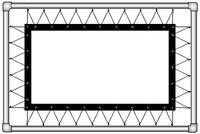 Полотно на люверсах Corvus (4:3) 386х294 (Z 366х274/3 Белое матовое (PW)-PS/S)Полотна для экранов<br>Особенностипроекционное полотно натягивается по периметру на трубчатую алюминиевую раму с помощью люверсоввозможна инсталляция на стену и установка на ножкахчерная рамка по периметру изображениявысокое качество полотна<br><br>Тип: полотно<br>Формат: 4:3<br>Способ проецирования: Прямая проекция<br>тип покрытия: белое матовое