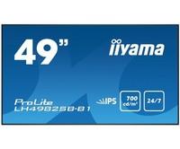 Профессиональная панель Iiyama LH4982SB-B1Встраиваемые сенсорные мониторы<br>Профессиональная панель с IPS матрицей, диагональю 49, разрешением 1920х1080, соотношением сторон 16:9 и режимом работы 24/7.<br>
