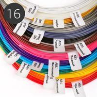 Набор ABS пластика 1.75мм для 3D Ручки (16 цветов)Пластик для 3D Ручки<br>Набор ABS пластика для 3D Ручки:MyRiwell, Fantastique One, 3DYaYa, 3Doodler.&amp;nbsp;(16 ЦВЕТОВ):Тип пластика: ABSТолщина нити: 1,75 ммВес (в упаковке): 0.5 кгСтрана производитель: Россия<br><br>Тип пластика: ABS<br>Толщина нити: 1,75 мм<br>Страна производитель: Россия
