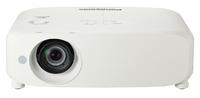 Мультимедийный проектор Panasonic PT-VZ570Мультимедийные проекторы<br>Проектор Panasonic PT-VZ570 рекомендован для установки в учебных аудиториях, конференц-залах, офисах и школах.Отличные функции и возможности при установке:1.6-кратный вариобъектив предоставляет широкие возможности при установкеКоррекция трапецеидальных искажений по горизонтали и вертикалиУгловая коррекция трапецеидальных искаженийСмещение объектива по вертикалиГеометрическая корректировка изображения на экранах специальной формыШирокий спектр входных разъёмов включает 2 HDMI входа, 2 RGB входа (один может работать как вход/выход)Программа Multi Projector Monitoring &amp;amp; Control Software для слежения и управления несколькими проекторами по локальной сетиСовместимы с PJLink, Crestron , Crestron Connected? и AMX Device DiscoveryВстроенный динамик 10 Вт<br><br>Объектив: Стандартный<br>Тип устройства: LCD x3<br>Класс устройства: стационарный<br>Рекомендуемая область применения: для офиса<br>Реальное разрешение: 1920x1080 (Full HD)