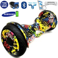 Гироскутер Smart Balance PRO PREMIUM 10.5 с Ручкой + APP + самобаланс Граффити ФиолетовыйПремиум сигвеи<br>Технические характеристики:Max скорость: 20 км/чзапас хода: 20 кмразмер колес: 10Max вес: 25 кг - 120 кгмасса: 13,5 кгГарантия 1 годСумка в комплект не входит.<br>