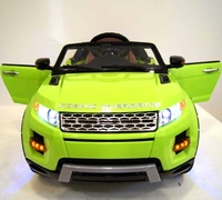 Электромобиль Range Rover A111AA VIP зеленыйДетские электромобили<br>ЭЛЕКТРОМОБИЛЬ RANGE ROVER A111AA VIP С ДИСТАНЦИОННЫМ УПРАВЛЕНИЕМ ЗЕЛЕНЫЙ ЦВЕТСветовые и звуковые эффекты.&amp;nbsp;Подсветка панели приборов, диодные огни фар.&amp;nbsp;Плавный ход. Амортизаторы.Пульт управления: индивидуальный (настраивается по Bluetooh)Колеса: РЕЗИНОВЫЕ НИЗКОПРОФИЛЬНЫЕ (дополнительная подсветка, которую, по желанию, можно отключить - рычаг под рулем)Открываются двери.&amp;nbsp;Заводится с кнопки.&amp;nbsp;Коробка автомат.&amp;nbsp;Обратный ход руля.Скорость: 2 скорости вперед, одна назад.Сидение: мягкое кожаное, регулировка вперед/назад. 5-и точечный ремень безопасности.USB-вход, вход для MP3, SD-входВозможность перемещения по принципу Чемодана (выдвигается ручка и колесики)Размер собранной модели: 125*68*56см, вес: 22кг, макс. нагрузка: 30 кгАккумулятор: 2*6V/7АРедуктор: 2*35W<br><br>Марка: Range Rover<br>Модель: A111AA VIP<br>Сиденье: Кожаное<br>Колёса: Резиновые низкопрофильные<br>Кол-во мест: 1<br>Цвет: Зеленый