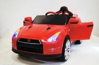 Электромобиль Nissan GTR X333XX красныйДетские электромобили<br>ЭЛЕКТРОМОБИЛЬ NISSAN E333KX (ЛИЦЕНЗИОННАЯ МОДЕЛЬ) С ДИСТАНЦИОННЫМ УПРАВЛЕНИЕМ КРАСНЫЙ ЦВЕТСветовые эффекты: фары передние, задние фары. Можно отключить отдельной кнопокой.Звуковые эффекты: музыкальный руль - звук клаксона/мелодии заводскиеПульт управления: индивидуальный (настраивается по Bluetooh)Амортизаторы: да, задниеКолеса: каучуковые низкопрофильныеСкорость: Скорость вперед (переключается кнопокой быстрее/медленнее), одна назад.Сидение: кожаное, ремень безопасностиВключение: кнопкаМедиа-панель: USB, SD-вход, AUX-входРазмер собранной модели: 119*75*52см, вес: 18кг, макс. нагрузка: 30 кгАккумулятор: 12V/7АРедуктор: 2*12V-12000об<br><br>Марка: Nissan<br>Модель: E333KX<br>Сиденье: Кожаное<br>Колёса: Каучуковые низкопрофильные<br>Кол-во мест: 1<br>Цвет: Красный