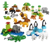 45012 Дикие животные DUPLOОбразовательные решения LEGO<br>Возрастная категория:&amp;nbsp;2+Тип кубиков:&amp;nbsp;LEGO&amp;reg; DUPLO&amp;reg;Количество деталей:&amp;nbsp;104<br>