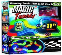 Гоночная трасса Magic Tracks 220 деталейГаджеты<br>Покупая Magic Tracks у нас, Вы получаете:&amp;nbsp;220 деталей дороги (общая длина 3,2 метра)&amp;nbsp;Светящийся скоростной автомобиль (работает от одной батарейки AA, в комплект не входит)&amp;nbsp;Набор наклеек&amp;nbsp;Инструкция&amp;nbsp;Коробка: 25.7 х 9 х 26.5 см&amp;nbsp;Вес: 750 г&amp;nbsp;ДОРОГА И МАШИНКА СВЕТЯТСЯ!&amp;nbsp;<br>