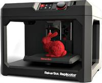 3D Принтер MakerBot Replicator 53D Принтеры<br>Домашний / офисный 3D Принтер.Кол-во головок: 1 Область печати: 25.2 x 19.9 x 15 см (7.5 л)&amp;nbsp; Расходники: PLA, 1.75 мм Толщина слоя: 100 микрон Скорость выращивания: 24 см&amp;sup3;/час Скорость печати: 50мм/сек Точность: 2,5 микрометров по Z-оси, 11 микрометров по X-оси, 11 микрометров по Y оси Материнская плата: MakerBotMightyBoard Характеристики двигателя: шаговое исполнение, 1/16, 5 осей Монитор: ЖК, 4 20 Управление: многоповоротная панель Звуковой сигнал: пьезоэлектрика Цветопередача: управляемая систем, RGB Программное обеспечение: MakerWare&amp;trade; Bundle 1.0 Поддерживаемая ОС: Mac OSX, Windows, Linux Подсоединение: USB, SD Возможные форматы файлов: .obj, .thing, .stl Материал корпуса: сталь с акриловым напылением Вес, кг: 11.5 Габариты:&amp;nbsp;528 &amp;times; 441 &amp;times; 410 мм Гарантия: 1 год+5кг пластика и 3D Ручку в подарок.<br><br>Кол-во экструдеров: 1<br>Область построения (мм): 252x199x150<br>Толщина слоя: 100 микрон<br>Толщина нити: 1,75 мм<br>Расходники: PLA<br>Платформа: без подогрева<br>Гарантия: 1 год