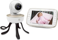 Wi-Fi IP-видеоняня Motorola MBP8553D ОБОРУДОВАНИЕ<br>Характеристики:Тип:ВидеоняняМодель:MBP855Стандарт передачи данных:цифровойРадиус действия внутри помещений:50мРадиус действия на открытом пространстве:300мДиагональ дисплея:5Разрешение экрана:800x480Индикация родительского блока:Громкость, Заряд АКБФункции родительского блока:дистанционное управление наклоном и поворотом камеры, запись видеороликов, сохранение фотографий, синхронизация с ПК, масштабирование изображенияФункции детского блока:двусторонняя связь, колыбельные мелодии, система ИК ночного видения, контроль температурыПитание детского блока:от сети 220В через адаптер, встроенный аккумуляторПитание родительского блока:от сети 220В через адаптер, встроенный аккумулятор<br>