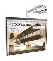 Интерактивная система SMART Board SBM685iv5wИнтерактивные комплекты<br>ИКомплект Smart Board SBM685iv5w включает в себя:1. Интерактивная доска SMART Board SBM685 без лотка (диагональ 87/221 cm, 16:10, DViT, питание (100V до 240V AC, 50/60 Hz, 5V DC 2.0A), ключ активации SMART NOTEBOOK в комплекте).2. Пассивный лоток для интерактивной доски SBM685 (1019355),3. Проектор SMART U100w (16:10, DLP, ультракороткофокусный, 3600 ANSI) (1026113),4. Настенное крепление для проектора (1026830)<br>