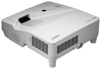 Мультимедийный проектор NEC UM301WМультимедийные проекторы<br><br><br>Объектив: Ультракороткофокусный<br>Тип устройства: LCD x3<br>Класс устройства: стационарный<br>Рекомендуемая область применения: для интерактивной доски<br>Реальное разрешение: 1280x800