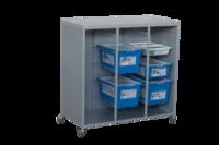 Тумба передвижная для хранения комплектов ЛегоОбразовательные решения LEGO<br>3 вертикальных отсекаДо 32 коробок с наборами LEGOМобильная конструкция с колесами и механизмом фиксации<br>