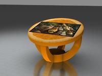 Интерактивный стол Апельсин долька 32Full HD 4 касанияИнтерактивные столы <br>Сферы применения:Детские сады;Школы;Игровые зоны в Банках, Ресторанах, Отелях.Особенности:интуитивно понятный интерфейс;компактные размеры;возможность установки приложений сторонних разработчиков;275 встроенных игр и приложений.Возможно изменение комплектации исходя из ваших желаний и потребностей.<br>