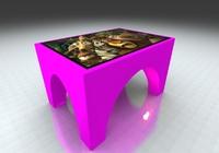 Интерактивный стол Аркада 32Full HD 4 касанияИнтерактивные столы <br>Сферы применения:Детские сады;Школы;Игровые зоны в Банках, Ресторанах, Отелях.Особенности:интуитивно понятный интерфейс;компактные размеры;возможность установки приложений сторонних разработчиков;275 встроенных игр и приложений.Возможно изменение комплектации исходя из ваших желаний и потребностей.<br>