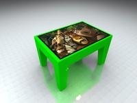 Интерактивный стол Кубик 32Full HD 4 касанияИнтерактивные столы <br>Сферы применения:Детские сады;Школы;Игровые зоны в Банках, Ресторанах, Отелях.Особенности:интуитивно понятный интерфейс;компактные размеры;возможность установки приложений сторонних разработчиков;275 встроенных игр и приложений.Возможно изменение комплектации исходя из ваших желаний и потребностей.<br>